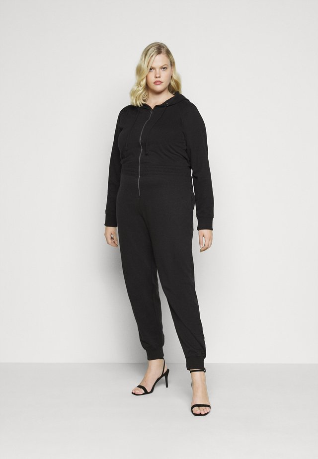 HOODED  - Jumpsuit - black