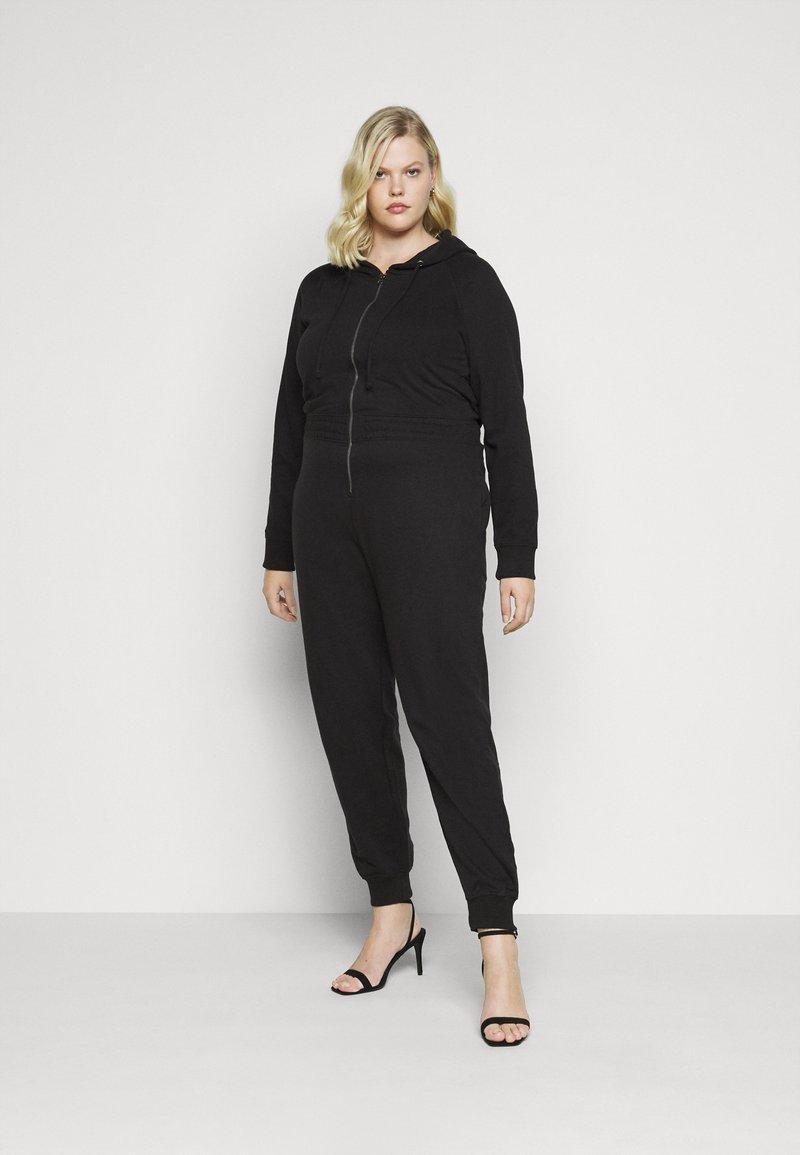 Missguided Plus - HOODED  - Jumpsuit - black