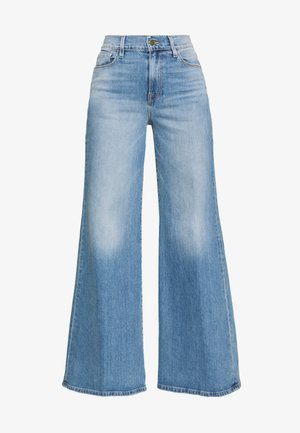 LE PALAZZO PANT - Flared Jeans - stone blue denim