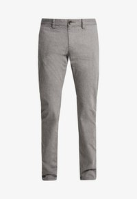 WASHED STRUCTURE - Trousers - grey