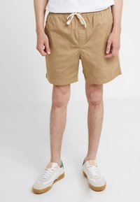 J.CREW - DOCK GARMENT DYE STRETCH - Shorts - british khaki - 0