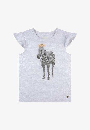 MIT PRINT - T-shirt print - evergray melange|gray