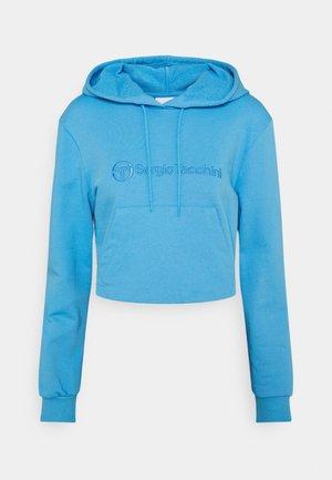 ALINA CROPPED HODDIE - Sweatshirt - azure blue