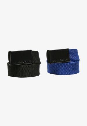 2 PACK - Belt - black+blue