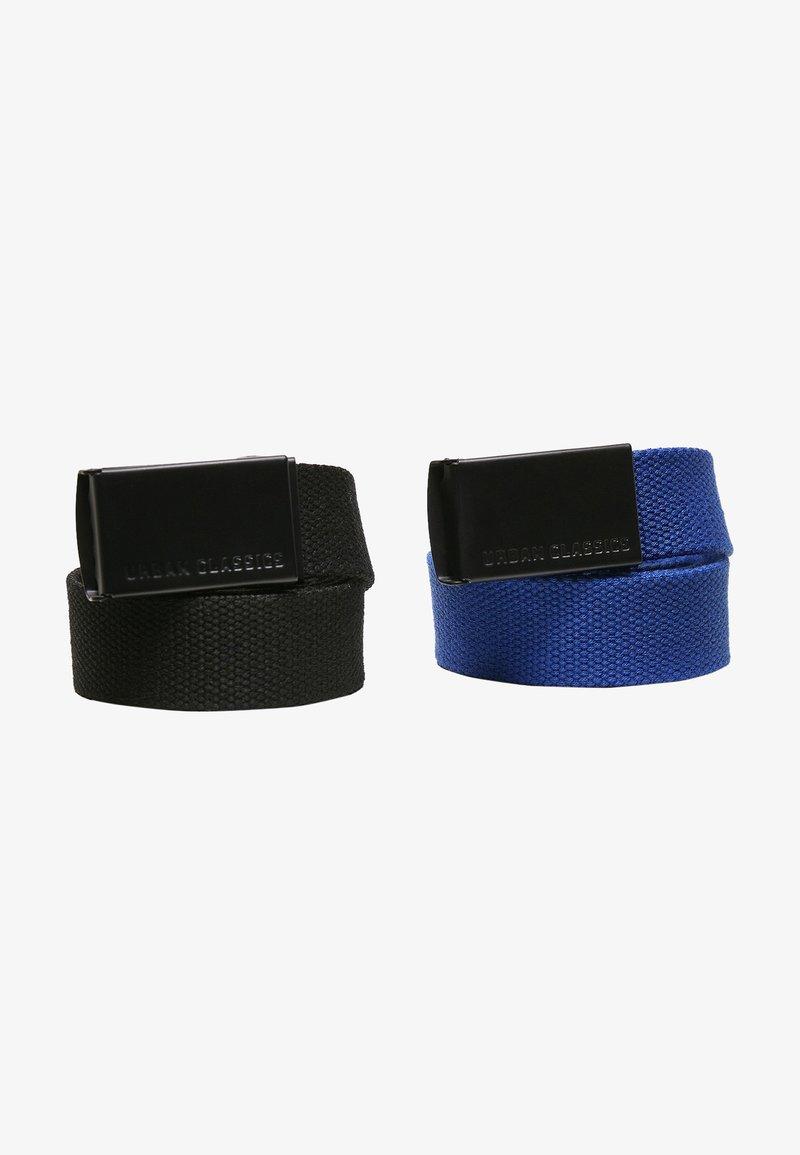 Urban Classics - 2 PACK - Belt - black+blue