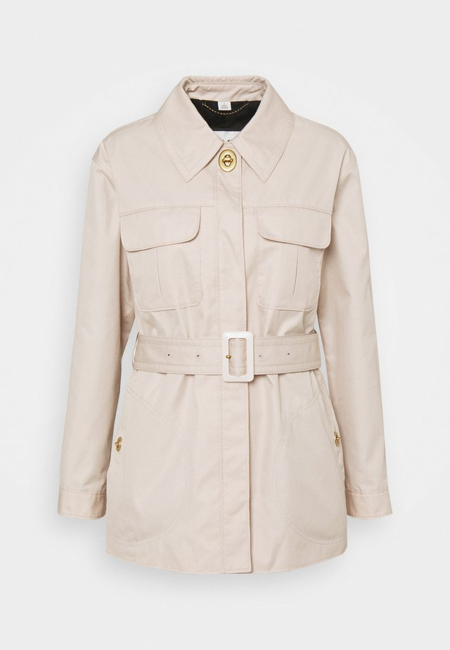 BELTED JACKET - Manteau court - almond peach