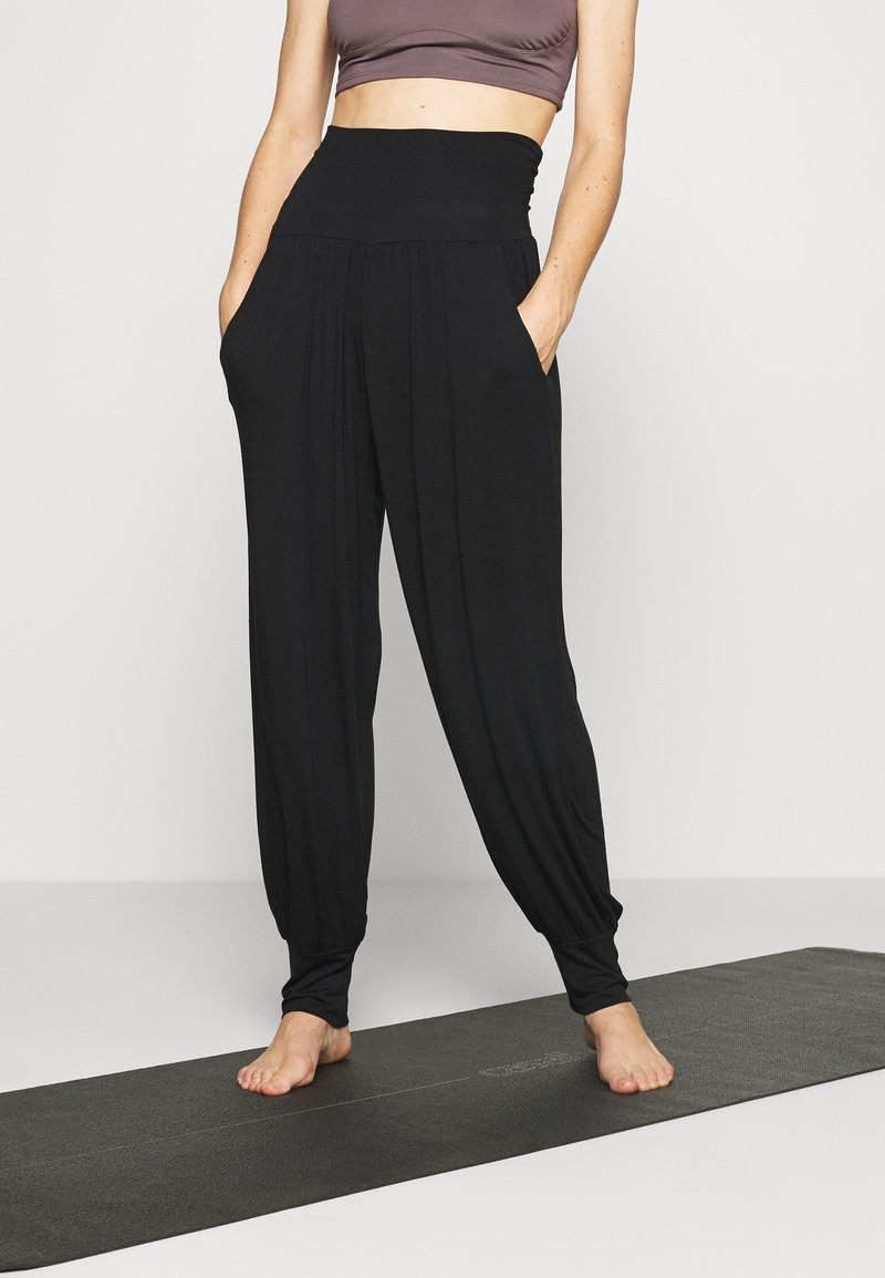 Deha - PANTS - Tracksuit bottoms - black