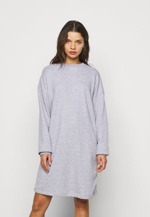 OVERSIZED DRESS - Day dress - grey marl