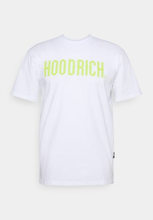 T-shirt print - white/lime