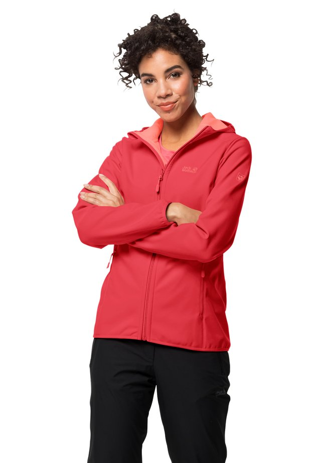 Soft shell jacket - tulip red