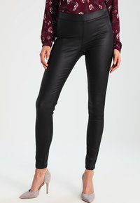 Kaffe - ADA COATED - Leggings - Trousers - black deep - 0