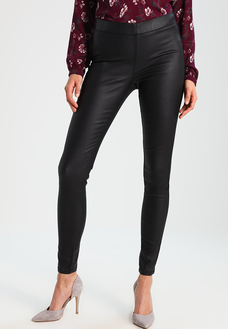 Kaffe - ADA COATED - Leggings - Trousers - black deep