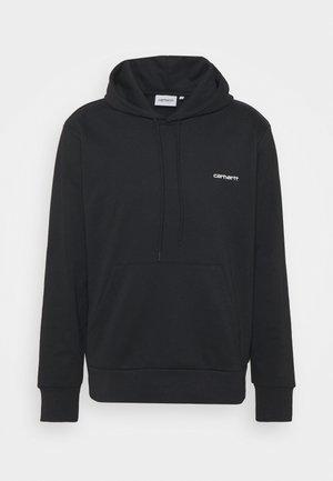 HOODED SCRIPT EMBROIDERY - Sweatshirt - black