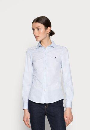 REGULAR SHIRT - Button-down blouse - blue
