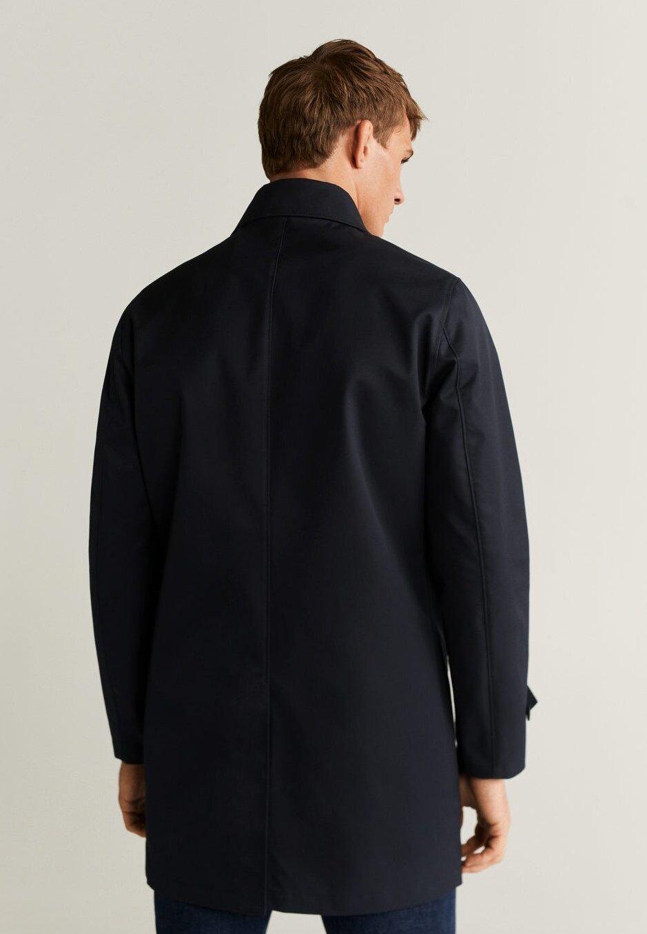 New Fashion Style Of Men's Clothing Mango ERASE Trenchcoat dunkles marineblau rlVdo4Ac1
