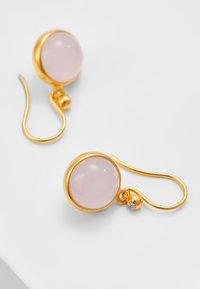 Julie Sandlau - PRIME EARRING - Örhänge - gold-coloured/milky rose - 2