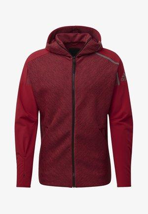 ADIDAS Z.N.E. FAST RELEASE HYBRID HOODIE - Zip-up hoodie - red
