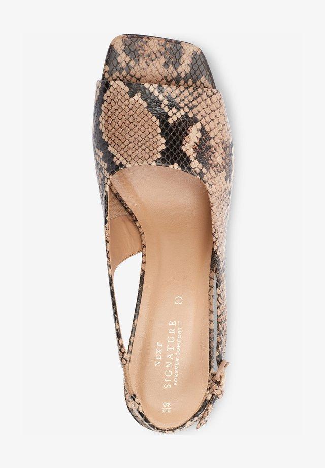 Sandaalit nilkkaremmillä - light brown
