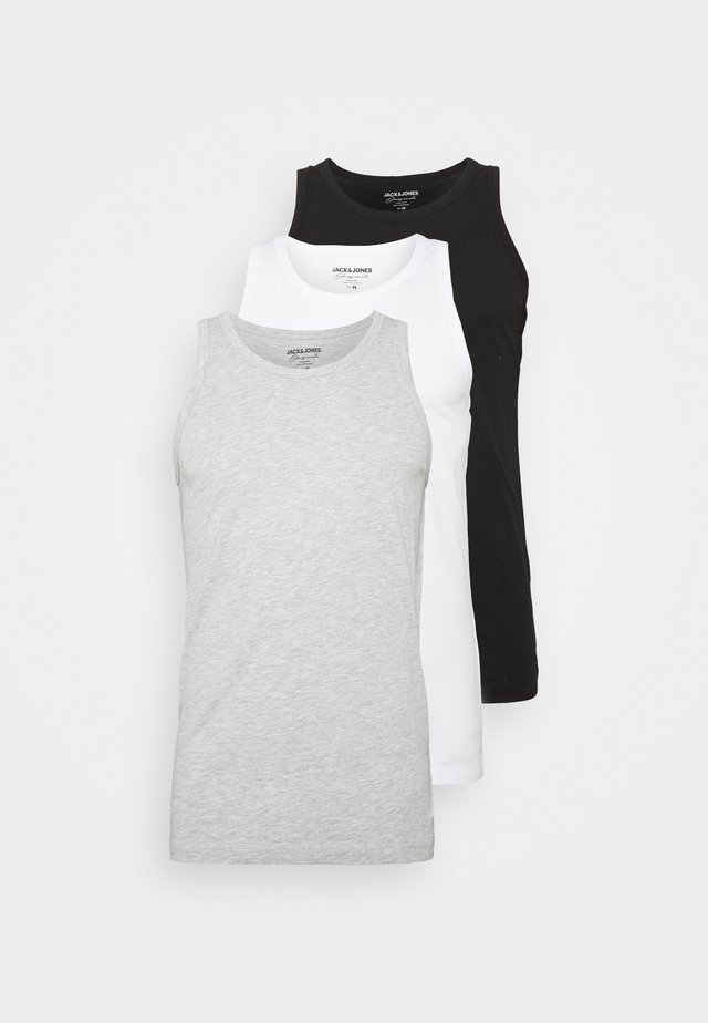 JORBASIC TANK 3PACK - Linne - white/black/grey