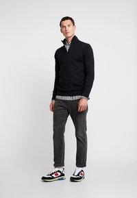 Esprit - HALF ZIP - Stickad tröja - black - 1