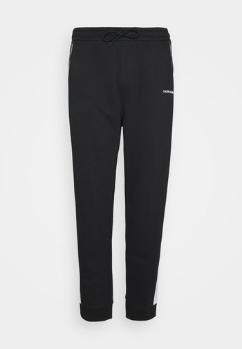 LOGO STRIPE - Pantaloni sportivi - colorblock bright white/black