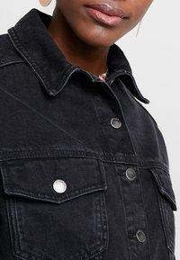 Topshop - HACKED OFF CROP - Denim jacket - black denim - 5
