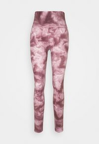 Free People - GOOD KARMA TIE DYE LEGGING - Legging - wine