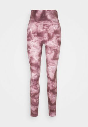 GOOD KARMA TIE DYE LEGGING - Leggings - wine