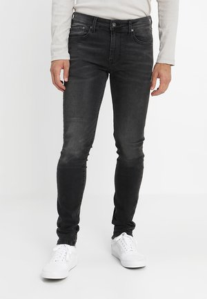 FINSBURY - Jeansy Skinny Fit - black denim