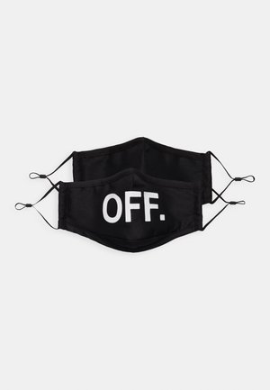 FACE MASK OFF 2 PACK - Stoffen mondkapje - black