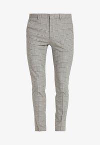 Burton Menswear London - WINDOWPANE CHECK - Trousers - light grey - 3