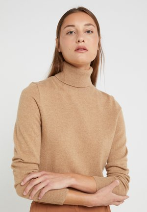 LAYLA TURTLENECK - Sweter - heather camel