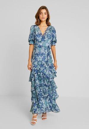 DELIA WRAP SKIRT DRESS - Maxi dress - blue