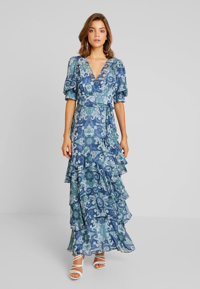 DELIA WRAP SKIRT DRESS - Maxi-jurk - blue