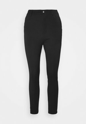 High Waisted Punto Trousers with pockets - Trousers - black