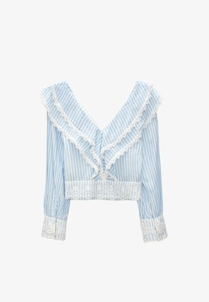 WITH STRIPES - Blouse - blue