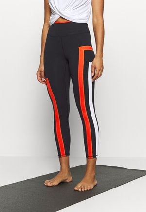NEW HEIGHTS LEGGING - Tights - black/red