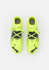 Puma - FUTURE Z 1.1 FG/AG - Moulded stud football boots - yellow aler/black/white - 3