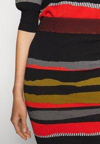 Diane von Furstenberg - SHIRA SKIRT - Mini skirt - black/red/grey - 5
