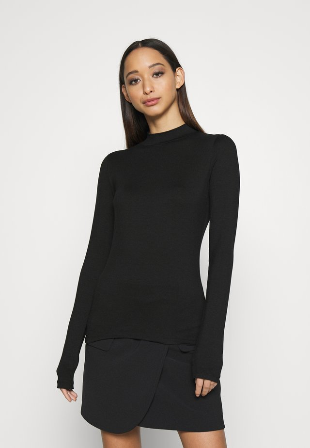 ALLEGRA - Topper langermet - black
