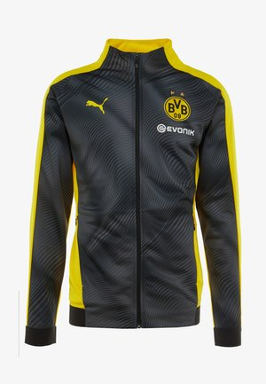 BVB BORUSSIA DORTMUND LEAGUE STADIUM JACKET WITH EVONIK - Pelipaita - neon yellow