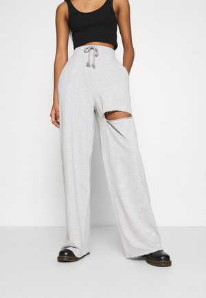 DETAIL PANTS - Tracksuit bottoms - grey mélange
