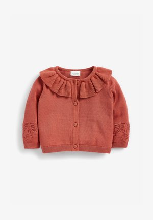 FRILL COLLAR - Cardigan - brown