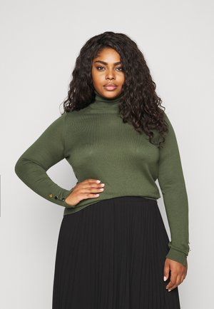 VMMILDA ROLLNECK BUTTON SLIT - Jumper - black forest/ light gold