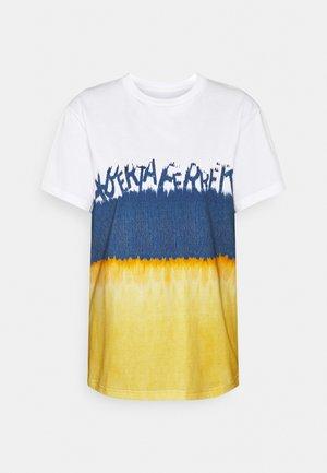 T-shirt print - fantasy print brown
