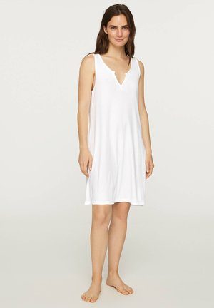 SLEEVELESS COTTON NIGHTDRESS - Nightie - white