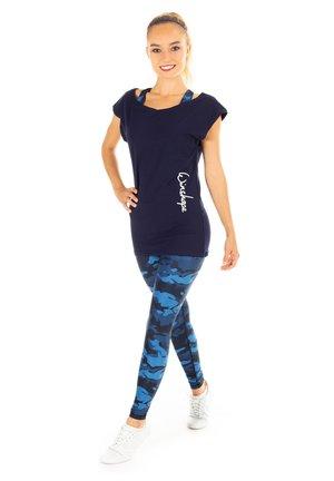 HWL102 CAMO HIGH WAIST - Leggings - camo blue