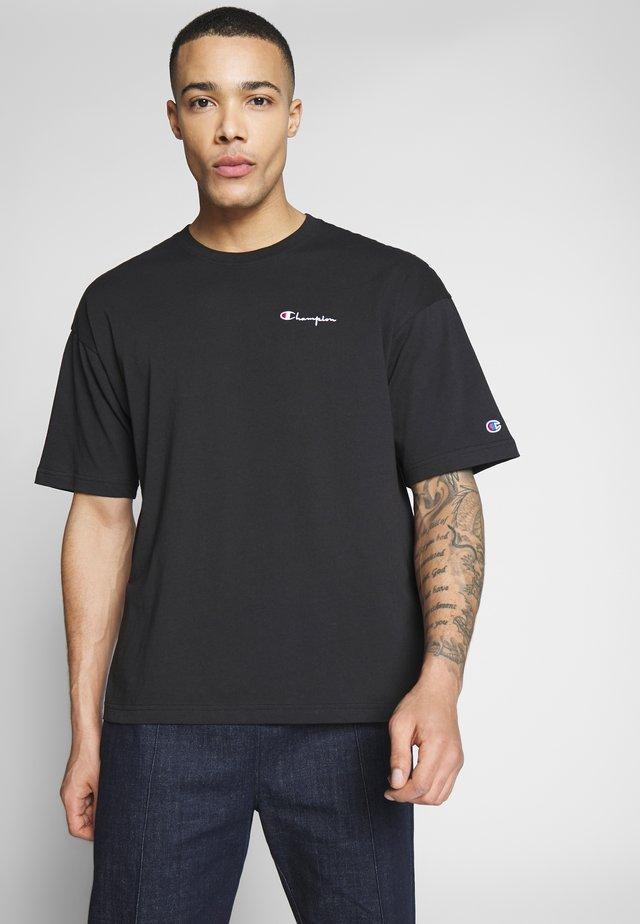 BOXY FIT CREWNECK - Print T-shirt - black