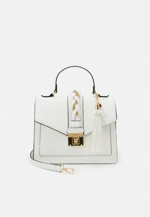 MEGUSTA - Handbag - bright white/gold-coloured