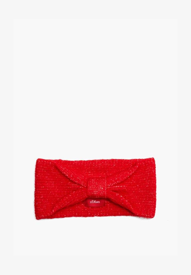 Ear warmers - red melange